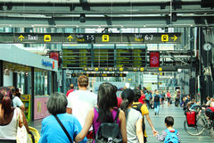 Estação de trem de Malmo, Suécia Imagens de Stock Royalty Free