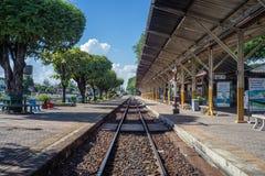 Estação de trem de Nakhon Lampang em Nakhon Lampang, Tailândia Fotos de Stock