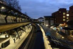 Estação de trem de Stadelhofen em Zurique Fotos de Stock Royalty Free