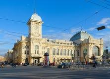 Estação de trem de Vitebsk, vista de Zagorodny Prospekt, St Petersburg, Rússia fotografia de stock royalty free