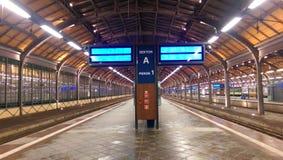 Estação de trem de Wroclaw - Polônia Fotos de Stock Royalty Free
