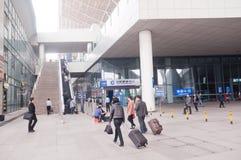 Estação de trem de Wuhan Imagens de Stock