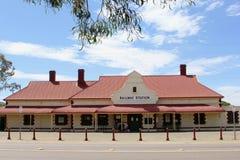 Estação de trem do Ghan velho histórico e o Pichi Richi Railways em Quorn, Austrália Ocidental Imagens de Stock Royalty Free