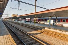 Estação de trem do passageiro em Kosice, Eslováquia Foto de Stock