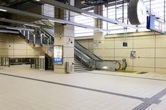A estação de trem do transporte público Imagens de Stock Royalty Free