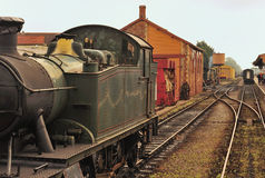 Estação de trem do vapor Imagem de Stock Royalty Free