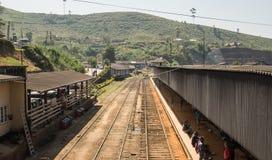 Estação de trem em Ásia HATTON, SRI LANKA - CERCA DO 15 de janeiro de 2017 Fotos de Stock