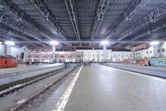 Estação de trem em Moscou Imagem de Stock Royalty Free