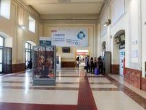 Estação de trem em Roma fotografia de stock
