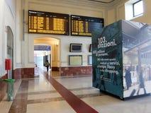 Estação de trem em Roma fotografia de stock royalty free