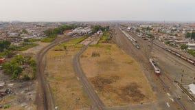 Estação de trem em Surabaya Indonésia fotografia de stock