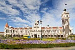Estação de trem histórica em Dunedin, Otago, ilha sul, Nova Zelândia imagem de stock