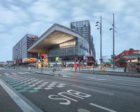 Estação de trem moderna construída nova notável de Lille Europa Fotografia de Stock Royalty Free