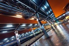 Estação de trem na noite Fotografia de Stock