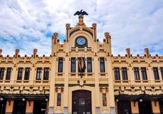 Estação de trem norte Estacio del Nord de Valência, Espanha fotos de stock royalty free