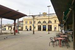 Estação de trem principal de Belgrado, Sérvia fotografia de stock