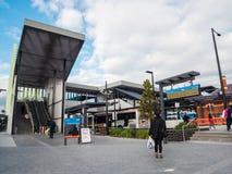 Estação de trem de Ringwood na cidade de Maroondah nos subúrbios orientais de Melbourne fotos de stock royalty free