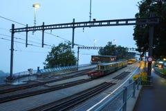 Estação de trem suíça em Jungfrau Fotos de Stock Royalty Free