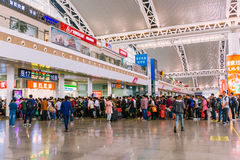 Estação de trem sul de Guangzhou fotos de stock royalty free