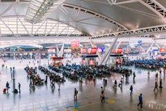 Estação de trem sul de Guangzhou Foto de Stock Royalty Free