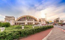 Estação de trem terminal de Banguecoque Grand Central no por do sol Imagem de Stock