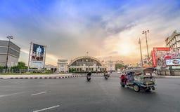 Estação de trem terminal de Banguecoque Grand Central no por do sol Fotos de Stock