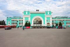 Estação de trem transiberiana de Novosibirsk fotografia de stock royalty free