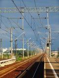 Estação de trilho 2 Foto de Stock Royalty Free