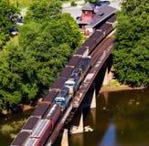 Estação de trilho da balsa dos harpistas da vista aérea Foto de Stock Royalty Free