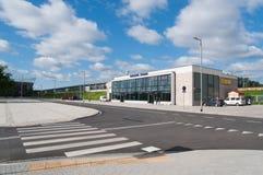 Estação de trilho nova - estádio de Varsóvia em Poland Fotografia de Stock Royalty Free