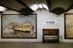 Estação de U-Bahn imagens de stock