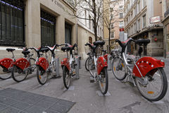 Estação de Velo'v em Lyon Fotos de Stock Royalty Free