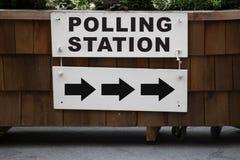 Estação de votação Imagens de Stock