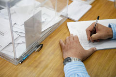 Estação de votação 018 Imagens de Stock Royalty Free