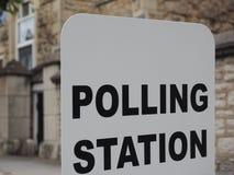 Estação de votação em Londres Imagens de Stock