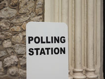Estação de votação em Londres Fotografia de Stock