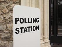 Estação de votação em Londres Fotos de Stock