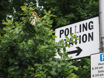 Estação de votação em Londres Imagem de Stock Royalty Free