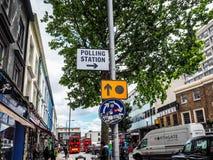 Estação de votação em Londres, hdr Imagens de Stock Royalty Free