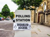 Estação de votação em Londres, hdr Foto de Stock