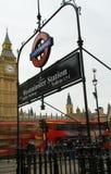 Estação de Westminster imagem de stock