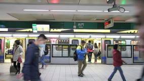 Estação de Ximen do metro de Taipei HD video estoque