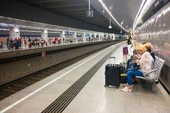 Estação do aeroporto de Viena Foto de Stock Royalty Free