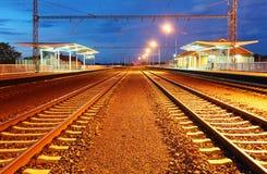 Estação do comboio de passageiros fotografia de stock
