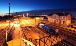 Estação do comboio de passageiros fotografia de stock royalty free