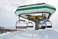 Estação do elevador de esqui Fotografia de Stock