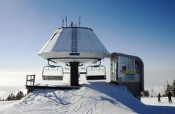 Estação do elevador de esqui Foto de Stock