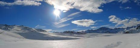 Estação do esqui de Tignes Fotografia de Stock Royalty Free