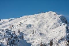 Estação do esqui do inverno Foto de Stock