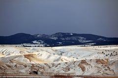 Estação do inverno na área rural de Montana imagens de stock royalty free